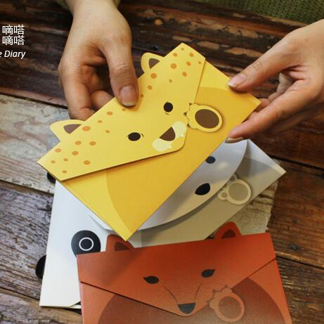 20 Teile/los Kreative Vintage Tier Design Diy Multifunktions Kraftpapier-tag Brief/umschlag/grün Karte/gt237 Billigverkauf 50% Office & School Supplies Papierumschläge