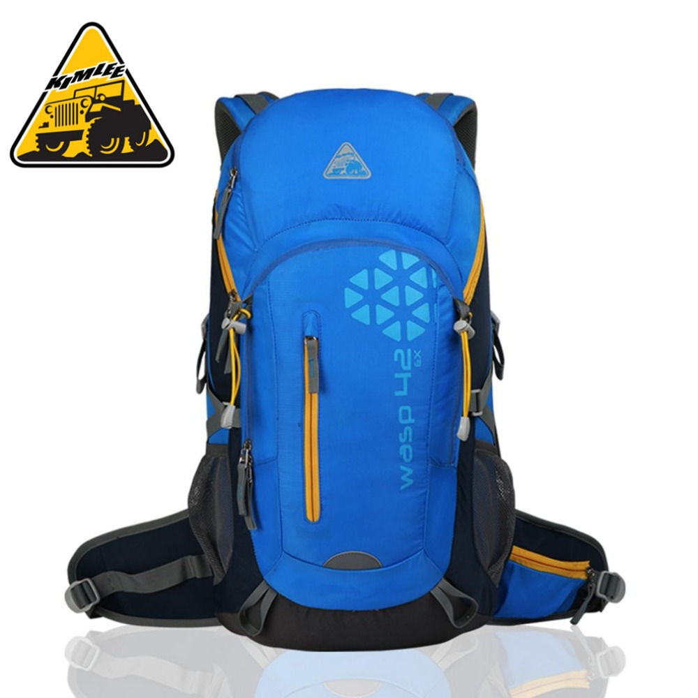 KIMLEE 40L Youth Universal Climbing Backpack 40L Professional Travelling Hiking Backpack Waterproof for Outdoor ActivitiesNew multifunctional professional handle pulley roller gear outdoor rock climbing tyrolean traverse crossing weight carriage fit