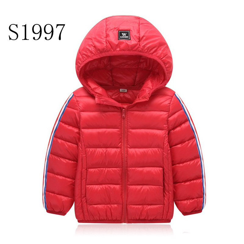 Zipper Hooded Parkas Hot Sale Kids Winter Coat Feather Cotton Baby Girls Clothing Jacket Boy Cartoon Patchwork  For 2-8 Year Ki 2016 new classical 100% down kids winter jacket for girls made of goose feather hooded jacket boy parkas coat children