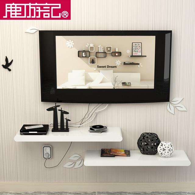 Wall Shelf Wall Shelf Tv Set Top Box Frame Decorative Frame