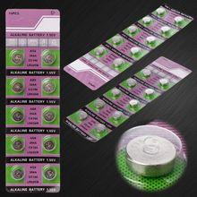 10PCS 알카라인 배터리 AG9 1.55V 버튼 코인 셀 시계 배터리 LR936 394 SR936SW 194 V394 제어 원격