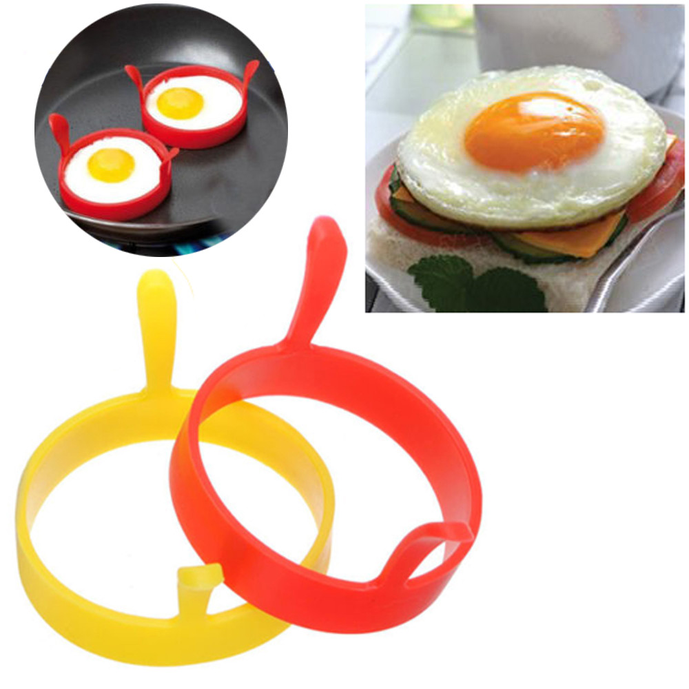 Egg-Rings Mold Kitchen-Gadgets-Accessories Frying Fried Silicone Ring-W-Handles Nonstick