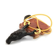 Horse wood shape slingshot Strong power outdoor sports spring hunting slingshot shooting tool Bow Catapult
