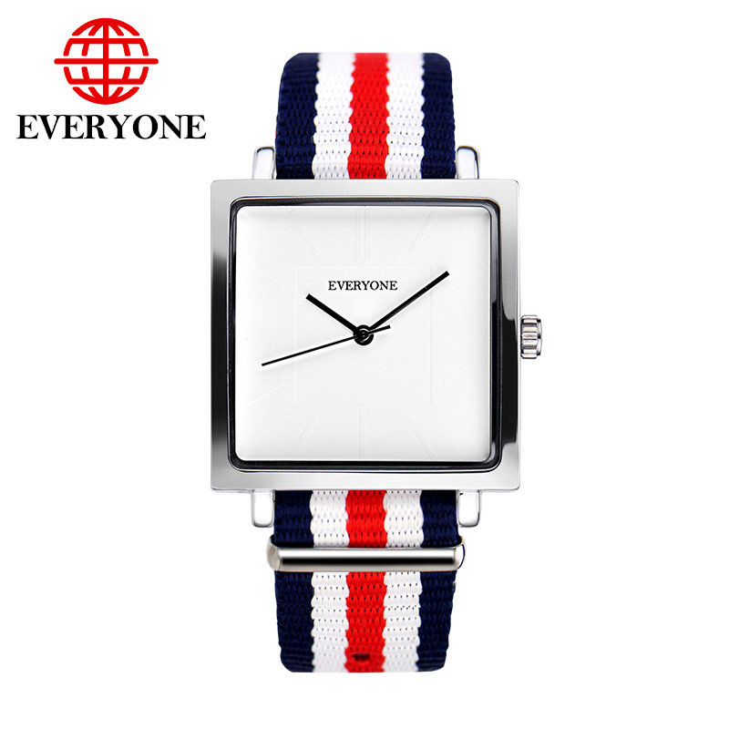 Luxury Brand Men Women Watches Fashion Casual Unisex Wrist Watch Nylon Strap Square Dress Watch relogio masculino feminino classic luxury formal unisex dress quartz men women wrist watch rose golden metallic strap decorational subdial gift box