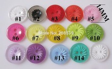 NB0207 Fancy buttons for Kids Flower Pattern 200pcs/lot 14mm Round Resin Plastic Botoes Sewing Supplies