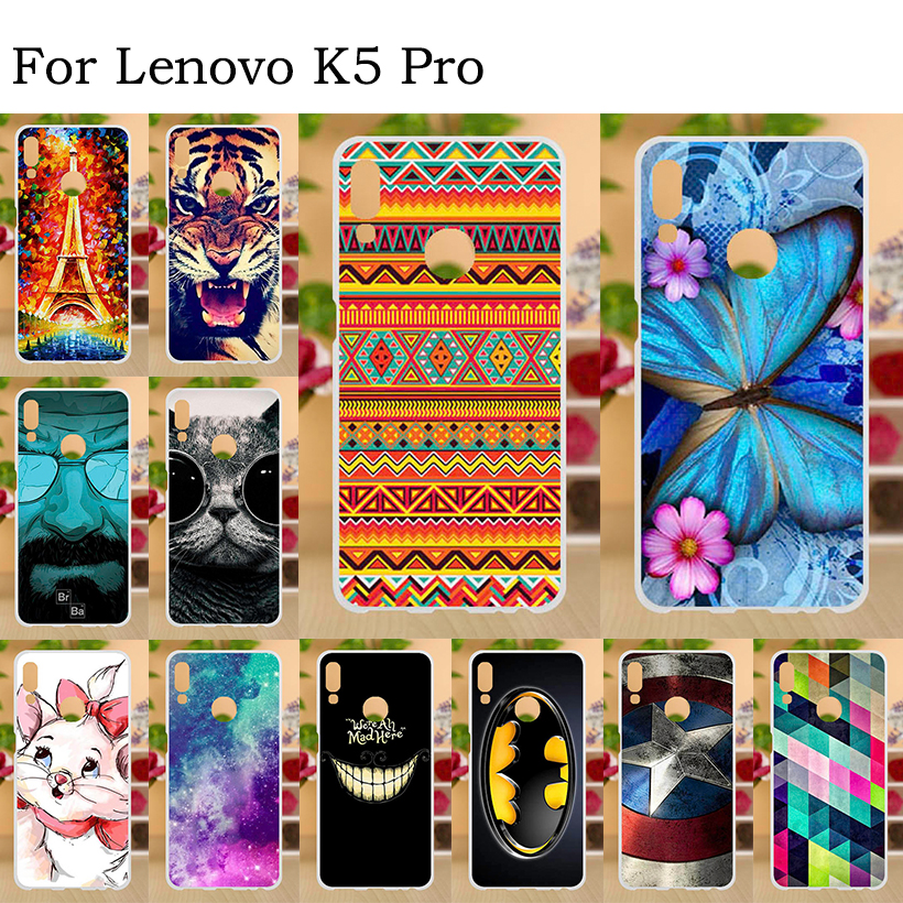 Phone Cases For Lenovo K5 Pro Case Silicone Painted Coque Soft Cover K5Pro L38041 Bumper Capa Fundas