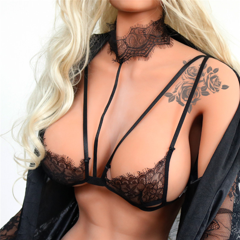 New Women Sexy Push Up Lingerie Bra Female Open Up Bras Lace Wireless Underwear Deep V Women Plus Size Hot Sale
