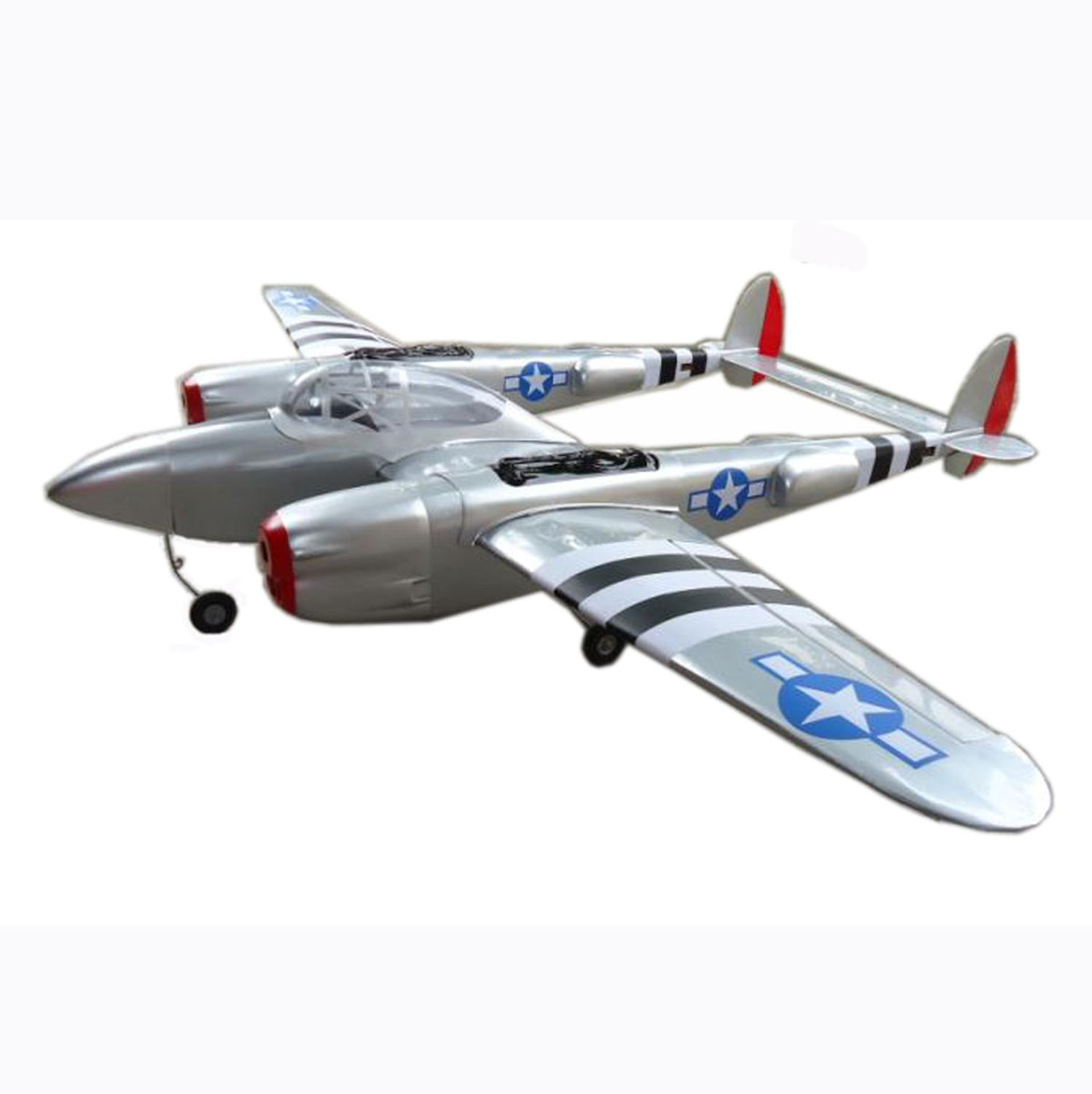 Flight model P38 RC Scale 90''/2300mm Wooden Fixed Wing Twin-engine Gas Airplane