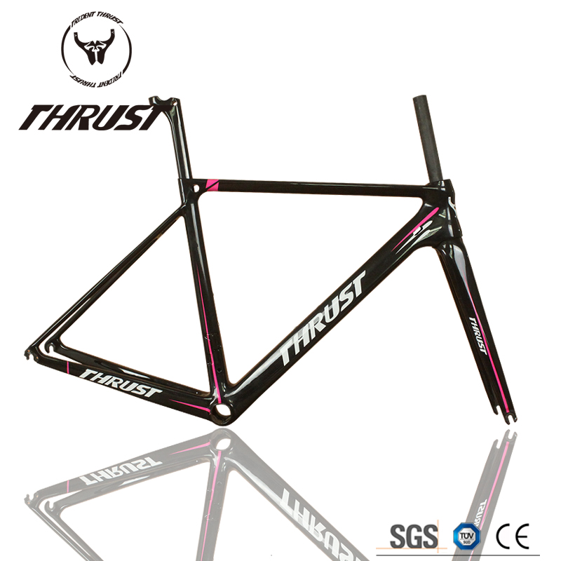 Thrust Professional design 05 pink T1000 High Quality carbon frame road Full Carbon Racing Frames DI2 05 Carbon Road Frames track frame fixed gear frame bsa carbon 1 1 2to 1 1 8 bike frameset with fork seatpost road carbon frames fixed gear frameset