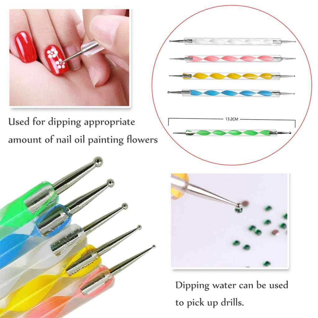 Nail Tools Nail Stickers Printing Paper 200 Carbon blue Transfer Tracing Drawings And 10 Ball Embossing Pens 2019 New Mar12