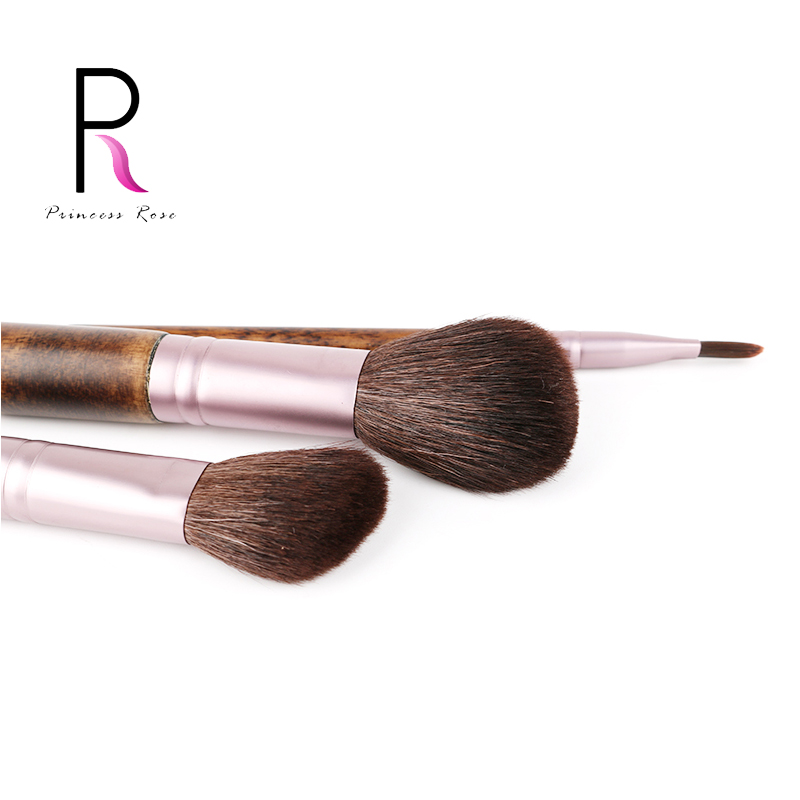3pcs Goat Hair Round Blush Powder Brush Angled Contour Highlighter Brush Small Eyeshadow Brush Make Up Makeup Brushes Set Kit urban decay eyeshadow contour brush