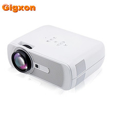 Gigxon – G80 2016 Best Mini LED Projector 1000 Lumens 1080P Full HD Contrast Ratio 1000:1 with HDMI AV TV Port Remote Controller