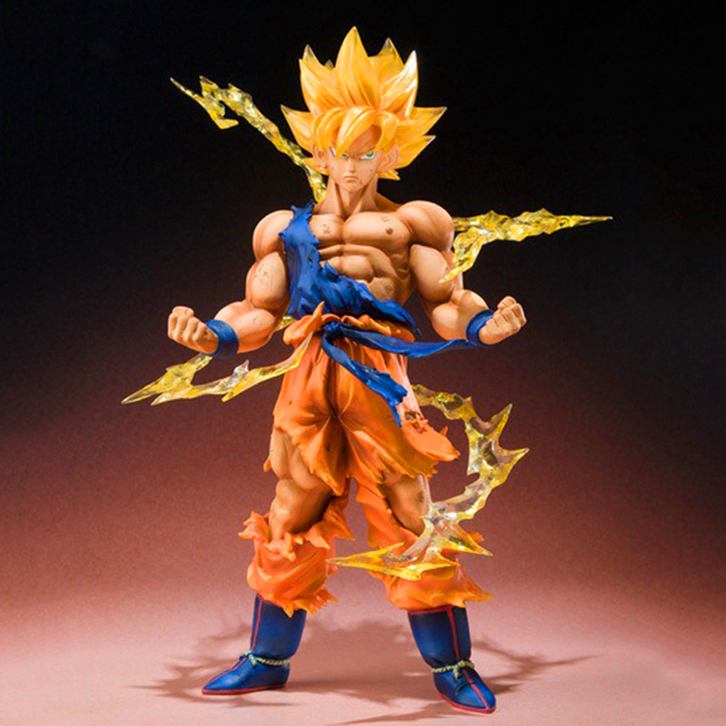 15cm Dragon Ball Z Super Saiyan Goku Son Gokou PVC Action Figure Model Collection Toy Gift 16cm anime dragon ball z goku action figure son gokou shfiguarts super saiyan god resurrection f model doll