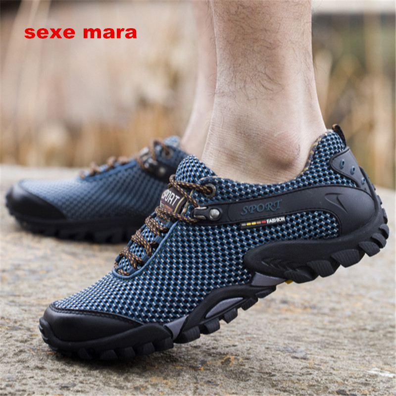 2017 Outdoor Sport shoes men Brand Hiking Shoes Sneakers men shoes Trekking Mountain Climbing Walking Anti-skid Off-road NE71 цена