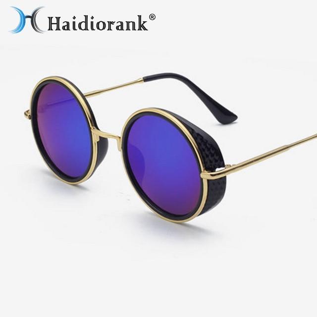Yiwa Mode UV400de luxe Lunettes de soleil Mode Style vintage Eyewear, Black Frame Black Gray Lens