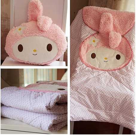 Candice guo! Super cute plush toy lovely pink my melody flower soft cushion blanket quilt girls kids birthday Christmas gift 1pc декор ribesalbes antigua beige esquina 20x20