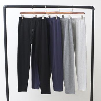 Nowy piżama piżama hombre modalne bawełniane spodnie od piżamy jesień zima bielizna nocna spodnie męskie piżamy spodnie duży rozmiar spodnie piżamy spodnie tanie i dobre opinie Mężczyźni Spać dna Octan COTTON Stałe Czesankowej Fdfklak black blue grey XL XXL