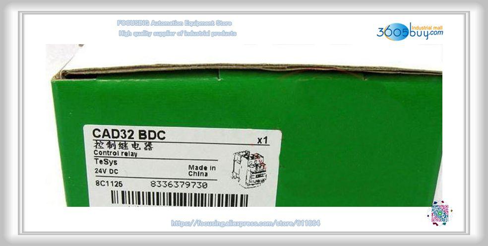 New DC control relay CAD32BDC DC24V 3NO 2NC new control relay cad series cad32 cad32bndc cad 32bndc 60v dc