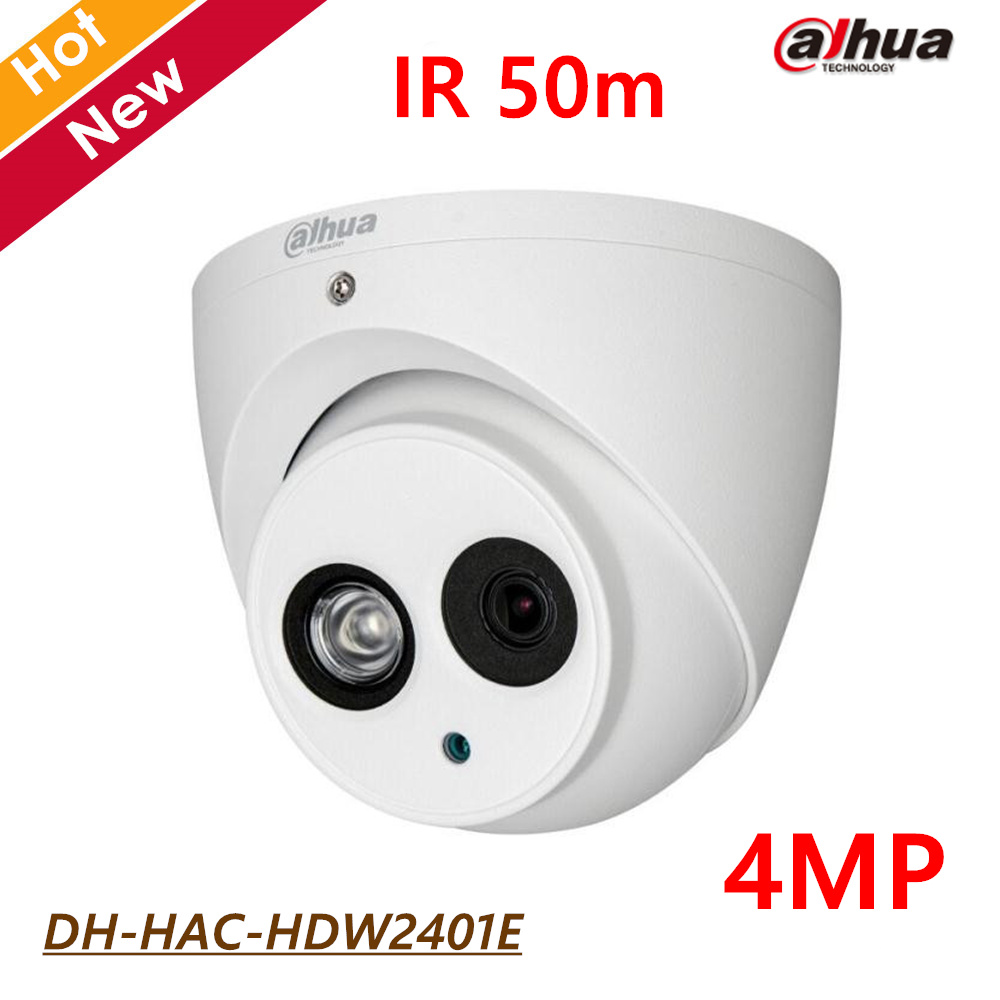 Dahua HDCVI 4MP Dome Camera DH-HAC-HDW2401E IR 50m CMOS 1920X1080 Waterproof IP67 4MP High defination Security camera CCTV cam