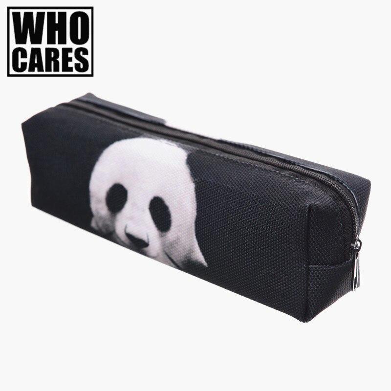Panda 3D printing cosmetic bag pencil trousse de maquillage 2017 Fashion New pouch toiletry bag organizer necessaire women bags