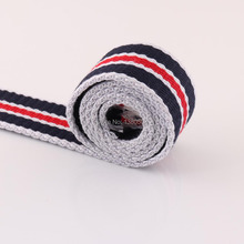5Yards 38mm Stripe Webbing Canvas Cotton/polyester Tape Bag Straps Belt Waistband key fobs bag garment accessories