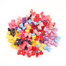 Hair-Clips Accessoires Grooming Pipifren Chien Yorkshire Bows Table-Supplies Small Pour