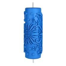 1 шт. резиновый Рельефный цветочный узор DIY Краска роликовый рукав декоративная текстура ролик для стены краска машина