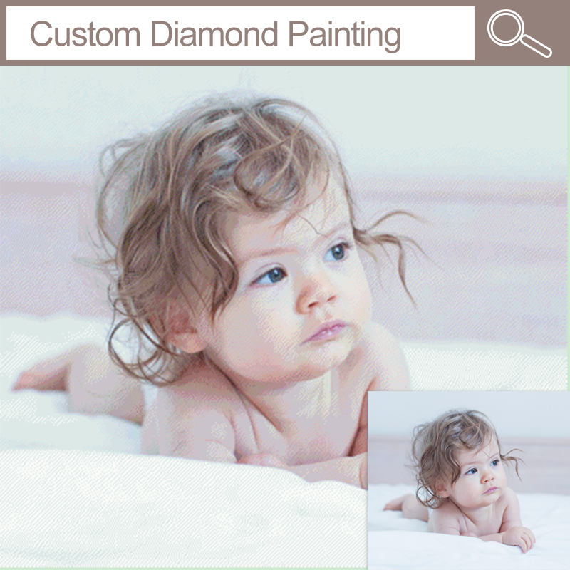 Fezrgea Photo Custom Baby Wedding 5D Pintura Diamante Cuadro de punto - Artes, artesanía y costura