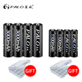 PALO 4pcs 1.2V High capacity AA 3000 Batteries +4Pcs 1100mah Batteries AA/AAA 3A Rechargeable Battery With Battery Box Gift