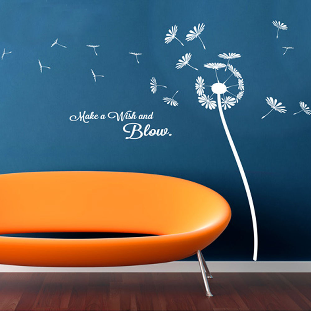 Online shop plant wall art diy flower wall stickers dandelion make online shop plant wall art diy flower wall stickers dandelion make a wish and blow home decor living room decoration bedroom decals aliexpress mobile amipublicfo Gallery