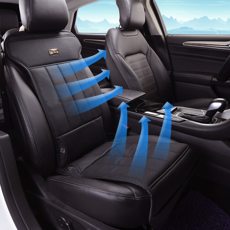 2017 Leather Car Seat Cushion 12 V Air Summer Ventilation Cooling Universal In Automobiles Covers From