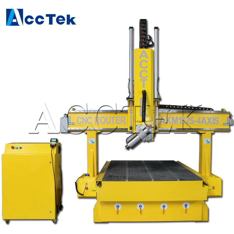 China AccTek 1525 Milling Machine 4 Axis Router