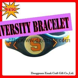 university of  SYRACUSE-ORANGE magnetic rubber bracelet