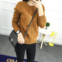 12 Color Hot New Autumn Winter Women Fashion 100 Cotton Elastic Sweater Lady Knitted Long Sleeve