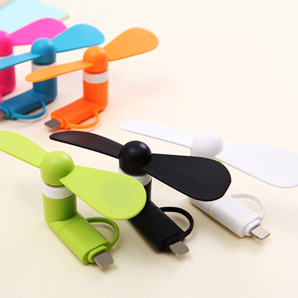 Portable Micro USB Fan Summer Electric Cooler For IPhone Andriod Fan Adapter Ultra Light Mobile Phone