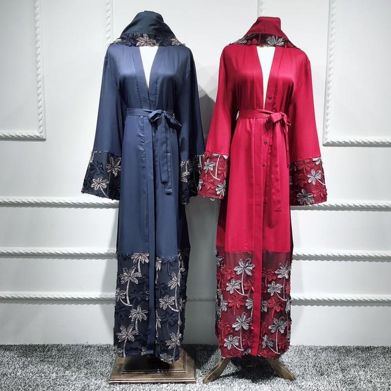 Floral Kaftan Muslim Abaya Dubai Kimono Cardigan Hijab
