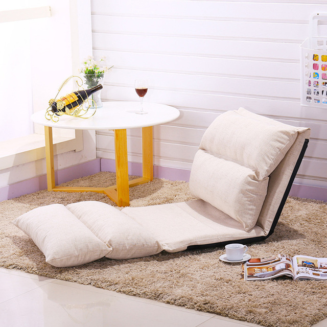 Folding Lazy Sofa Adjule Floor Cushion Creative Chair Seat Chaise Lounge Simple Furniture Balcony Bay Window Recliner