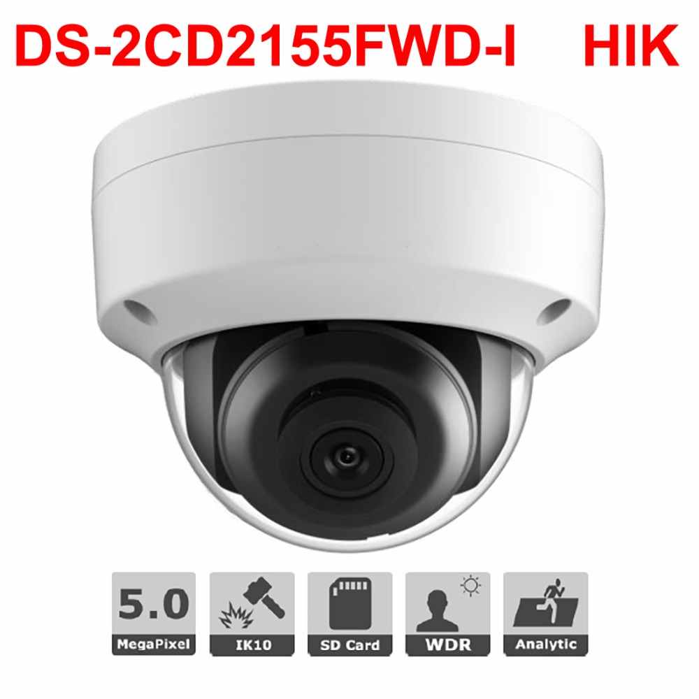 CCTV Ip camera 5mp DS 2CD2155FWD INetwork Dome Cam H 265 3DNR IP66 CCTV Video Surveillance