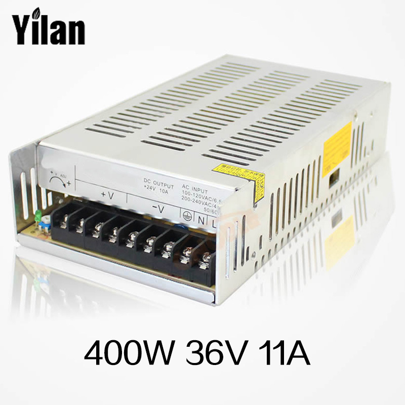 Best quality 12V 33A 400W Switching Power Supply Driver for LED Strip AC 100-240V Input to DC 12V 36pcs best quality 12v 30a 360w switching power supply driver for led strip ac 100 240v input to dc 12v30a