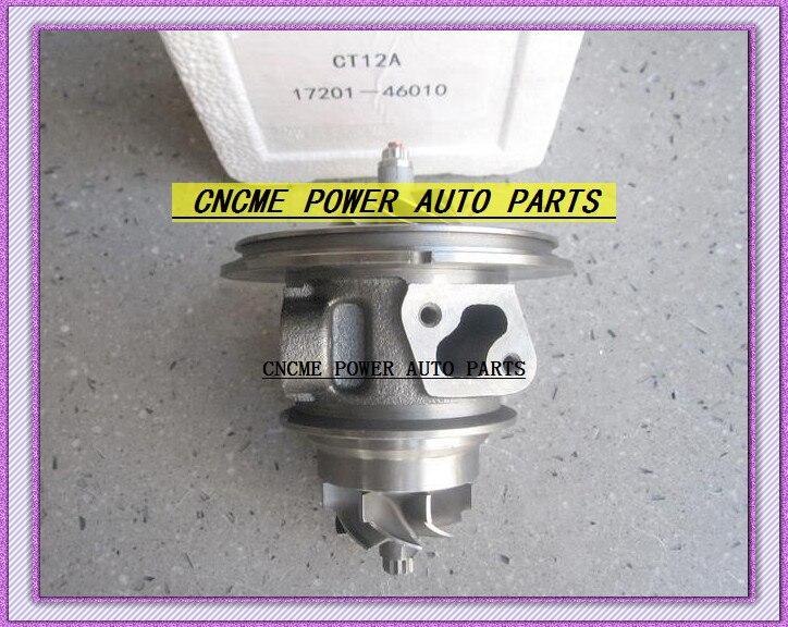 Twin турбо картридж CHRA CT12A 17208-46010 17201-46010 турбонагнетатель для тoyota Lexus соара Soarer Supra 90-1JZ-GTE 1jzgte 2.5L