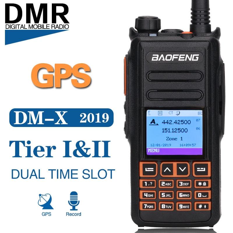 Baofeng DM-X GPS Record Dual Band Dual Slot di Tempo Livello 1 e 2 Tier II DMR Digitale/Analogico di Aggiornamento di DM-1702 Digitale Walkie Talkie