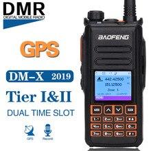 Baofeng DM-X gps запись Dual Band Dual Time слот уровня 1 и 2 Tier II DMR цифровой/аналоговый обновление DM-1702 цифровой двухканальные рации