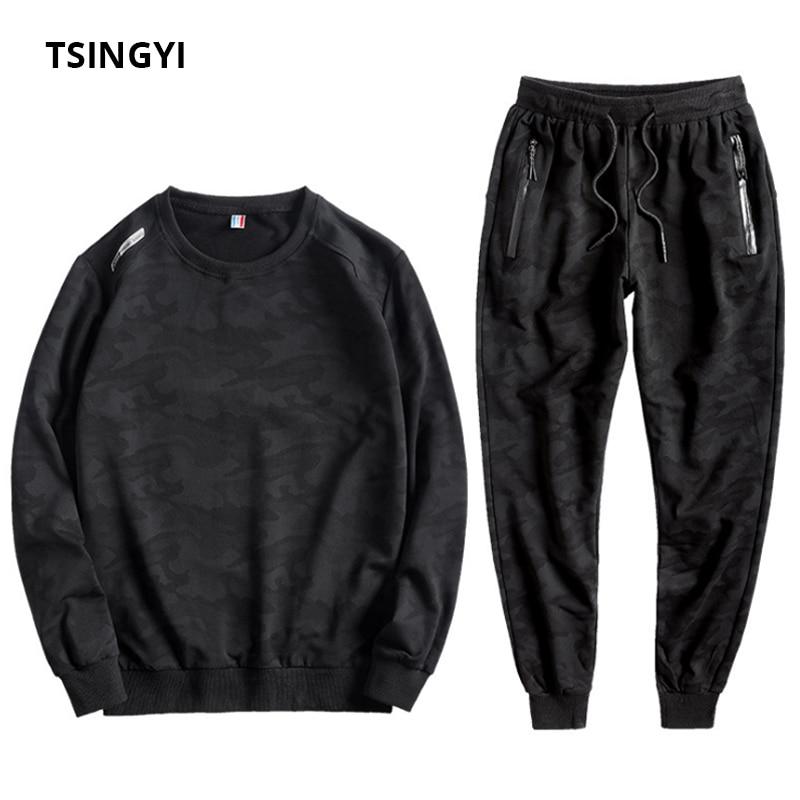 Tsingyi Große größe 10XL Camouflage Frühling Herbst Trainingsanzug Männer Sets Camo Sportswear Hoodies und Sweatpant Mens Sweat Track Anzüge-in Herren-Sets aus Herrenbekleidung bei  Gruppe 1
