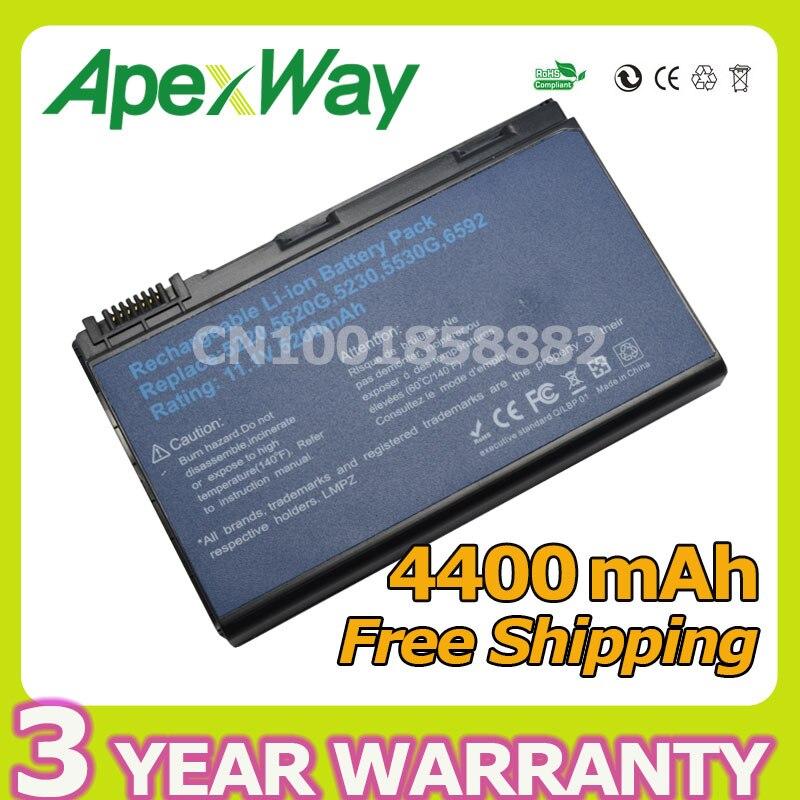Apexway 4400mAh 10 8v laptop battery for Acer Extensa 5220 5630G 5620Z 5630 7220 7620 7620G