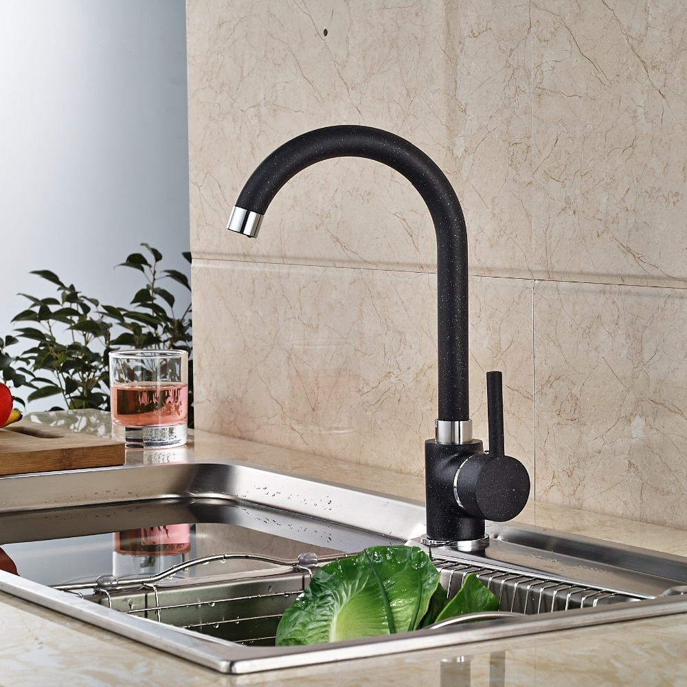 Newly Oil Rubbed Broze Kitchen Faucet Deck Mounted Sink Tap Hot&Cold