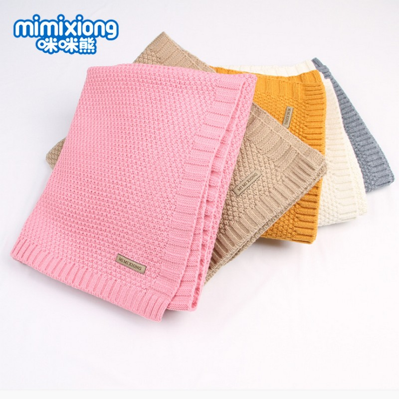 2018 baby knitted blanket Cover Quilt Newborn Swaddle Wrap Blankets Super Soft Toddler Bed Sofa Basket Stroller Blankets