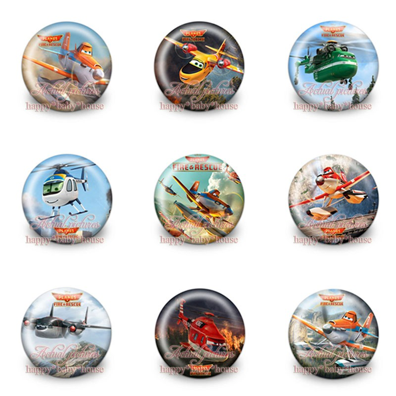 Objective Hot Sale 90pcs 9styles Planes Novelty Buttons Pins Badges Round Badges,30mm Diameter,accessories For Clothing/bags,kids Gifts Luggage & Bags