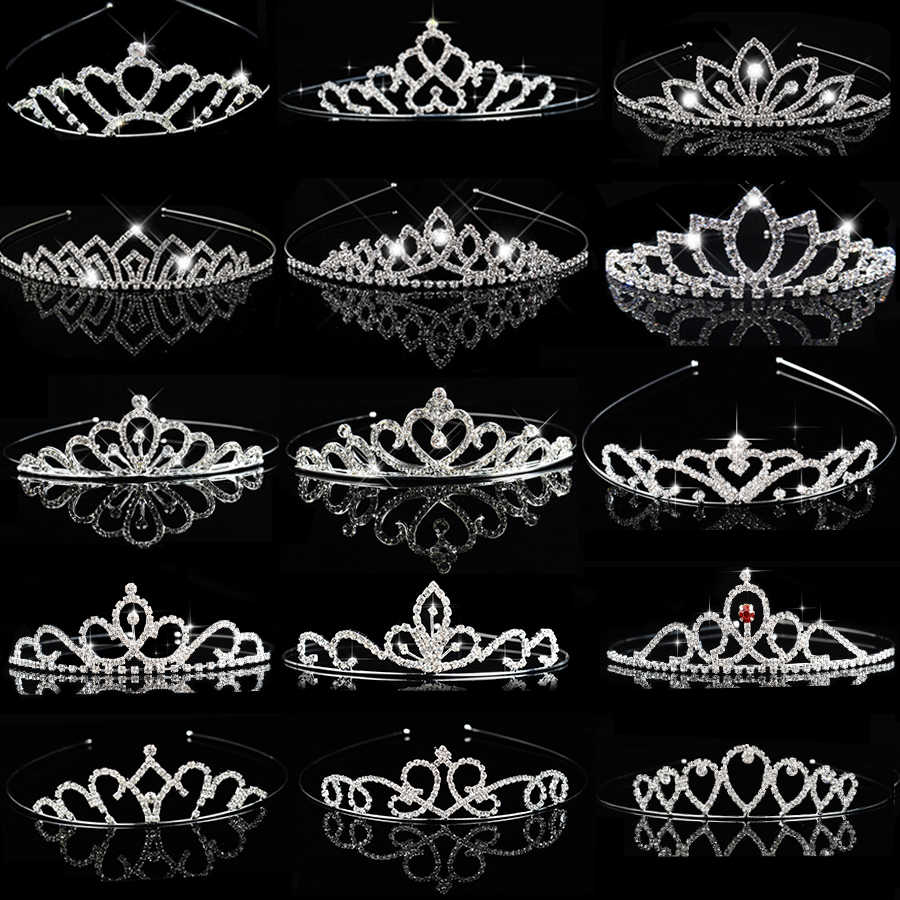 Children Tiaras and Crowns Headband Kids Girls Bridal Crystal Crown Wedding Party Accessiories Hair Jewelry Ornaments Headpiece
