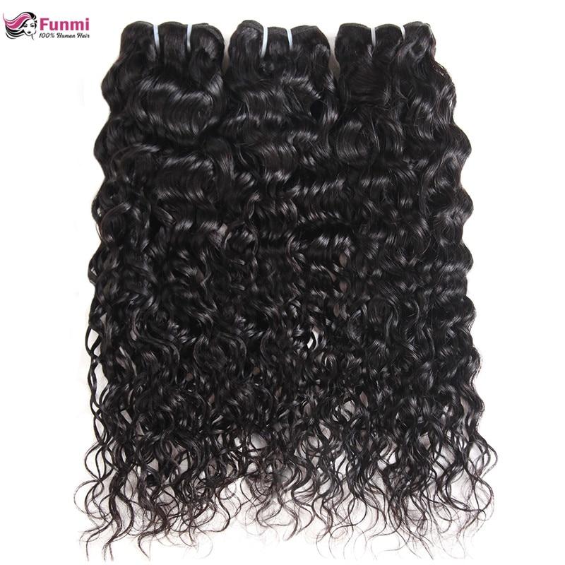 Funmi Virgin Hair Water Wave Bundles Brazilian Hair Weave Bundles Brazilian Virgin Hair Water Wave Human Hair 1/3/4 Bundles/Lot