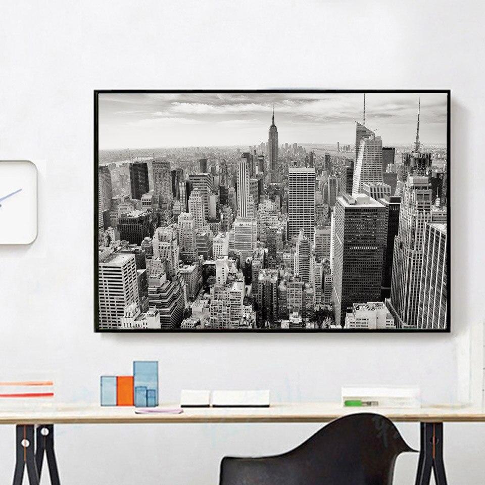 Keine Rahmen New York City Foto Schwarz Weiß Poster Moderne Leinwand ...